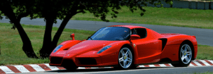 picture of ferrari on racetrack