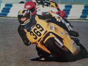 Picture of Gordon racing motorcycle