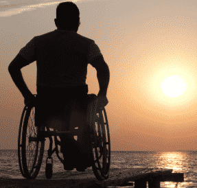 picture man in wheelchair